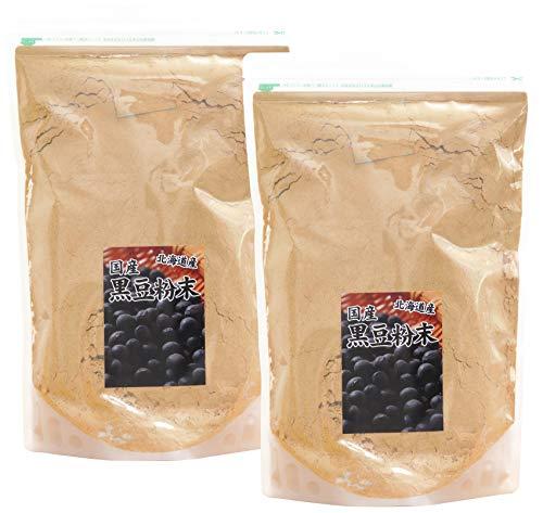 自然健康社 北海道産・黒豆粉末 1kg×2個 チャック付き袋入り