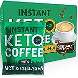 iLoveKetoLife Keto Kaffee 100% Arabica Bohnen MIT Kollagen + Kokosnuss-Öl + MCT - Perfekte Ketogene Ernährung - Instant Coffee - Stoffwechsel steigern dank perfekter Ketose