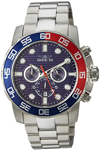 Invicta Men's Pro Diver Quartz Watch with Stainless-Steel Strap, Silver, 25.1 (Model: 22225)