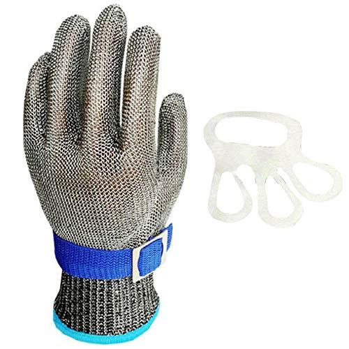 Schnittschutzhandschuhe Edelstahl Arbeitshandschuhe Schnittfester Schneide Handschuhe Schutzhandschuhe zum Hacken Fleischverarbeitung Küchenhandschuhe Arbeitshandschuhe für Baustelle Ein Handschuh