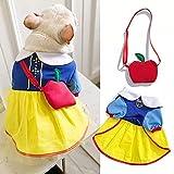 MDKAZ Falda para Perros Mascota Ropa para Perros Blancanieves Vestido de Princesa Disfraces Fiesta Eventos Especiales Disfraz Enagua-M