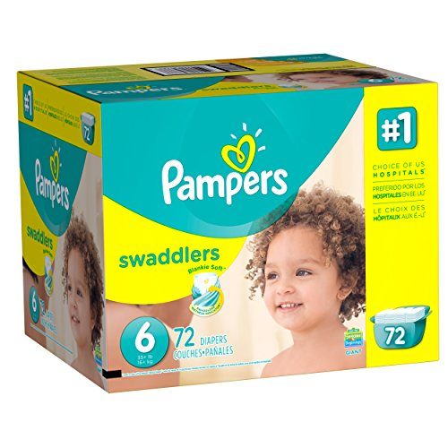 Price comparison product image Pampers Swaddlers Disposable Diapers Size 6,  72 Count,  GIANT (Packaging May Vary)