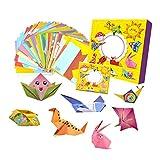 FLAMEER Set de Origami 108 Piezas Juguetes Educativos de Madera Montessori para Niños 3D Dibujos Animados