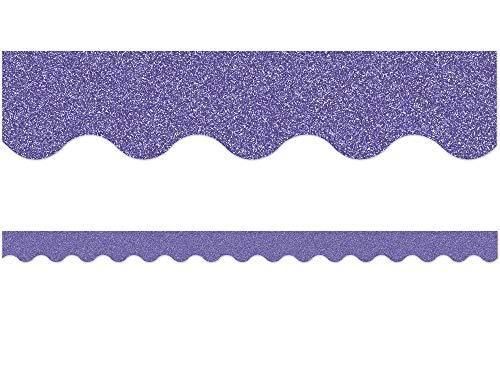 Purple Glitz Scalloped Border Trim
