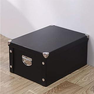 AQGELSNX Boîte de Rangement en Papier Boîte de Rangement pour Livres Boîte de Rangement Boîte de Rangement @ Black_30 * 20...