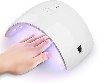 WXYLYF Nail UV LED De La Lámpara De 24W UV Gel Luz del Secador del Clavo De La Lámpara De Curado del Uña Y Uñas De Los Pies Geles Abrillantadores Basada con Sensor, 30S 60S Temporizador