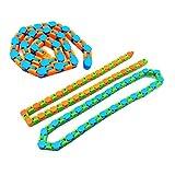 OrangeC 3pcs Snap and Click Fidget Crazy Tracks Juguetes Antiestrés Juguetes Sensoriales Fidget Fidget Chain Fidget Juguetes para Niños Adultos Color Aleatorio