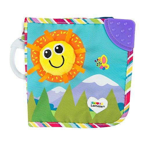 Lamaze L27186 Baby, Freundebuch Clip & Go, Hochwertiges Kleinkindspielzeug, Weiches Fühlbuch aus Stoff, BabyBuch Anhänger zur Stärkung der ElternKindBeziehung, Babygeschenke, Babybuch ab 0 Monaten