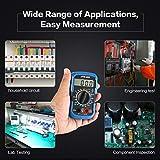 JTW-833ハンドヘルドミニデジタルマルチメータ1999 AC/DCボルトアンペアダイオードバッテリーテスター電流計電圧計(グレー&ブルー)
