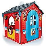 INJUSA - Casa de Juguete Mickey Mouse Licenciada Color Rojo con 2 Puertas de Acceso y 2 Ventanas Recomendado para Niños +3 Años
