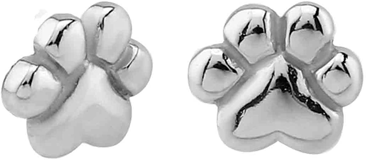 Small Stainless New life Steel Animal Ranking TOP7 Earrings Paw Stud Print