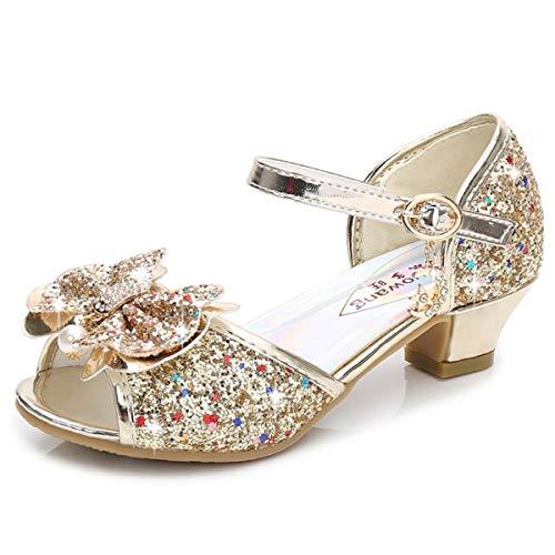 AIYIMEI Zapatos de Princesa Nias Sandalias Disfraz de Elsa Fiesta Chica Verano Brillando Zapatilla de Ballet Cosplay Danza Boda Carnaval Cumpleaos Regalo EU26-38