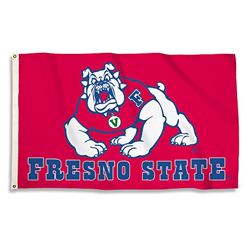 BSI NCAA College Fresno State Bulldogs 3 X 5 Foot Flag with Grommets