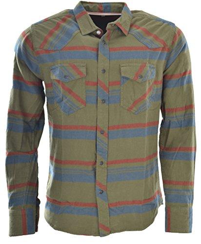 Marken Outlet Kriftel -  Camicia Casual - A Quadri - Uomo Olive XL
