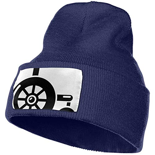 Rcdeey Rollstuhl Icon Simple Style Unisex Winter Sommer Warm Cuffed Plain Slouchy Skull Tägliche Strickmütze
