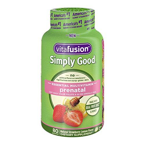 Vitafusion Simply Good Prenatal Essential Multivitamin, 80 Count