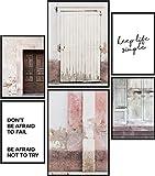 Papierschmiede® Mood-Poster Set Rustic Doors   6 Bilder