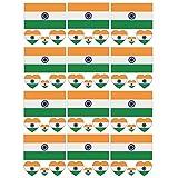 SpringPear® 12x Temporär Tattoo von Flagge Indiens für Internationale Wettbewerbe Olympischen Spiele Weltmeisterschaft Wasserfeste Fahnen Tätowierung Flaggenaufkleber Fan Set (12 Pcs)