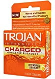 TROJAN Charged Lubricated Condoms, 3 Count (Pack of 1)