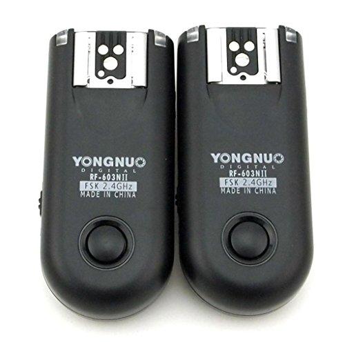 YONGNUO RF-603II N3 disparador de flash inalámbrico para Nikon D3100 D90 D5000 D3300 D5100 D5300 D7000 D7100