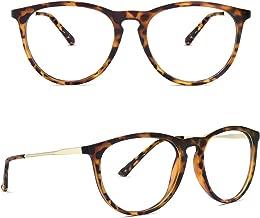 Blue Light Blocking Glasses, YAROCE Anti Eye Strain Computer Glasses, Vintage Retro Round UV Filter Blue Blocker Glasses for Women Men, Gaming Reading Glasses Non Prescription