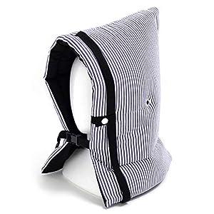 防災頭巾 子供用 ヒッコリーストライプ・紺 N4424000