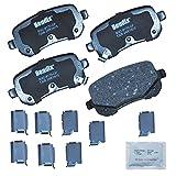 Bendix CFC1326 Premium Copper Free Ceramic Brake Pad (with Installation Hardware Rear)