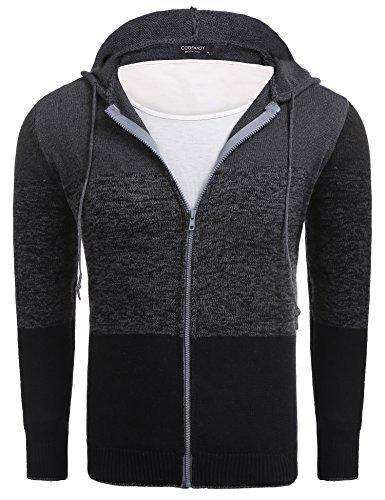 COOFANDY Herren Kapuzenpullover Hoodie für männer Kapuzensweatshirt mit Reißverschluss super Qualität Sport/Freiheit