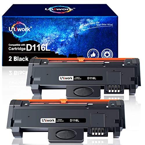 Uniwork Toner Ersatz für Samsung MLT-D116L D116L (2 Schwarz) Kompatibel mit Samsung Xpress SL-M2835DW SL-M2675FN SL-M2885FW SL-M2875FW SL-M2875FD SL-M2625D SL-M2825ND SL-M2625 SL-M2875ND SL-M2675F