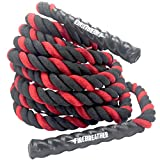 Battle Ropes with Foldable Poster and Anchor KIT. Full Body Workout Equipment for Crossfit Training, Home Gym & Fitness Exercises. PolyDac Battling for Strength