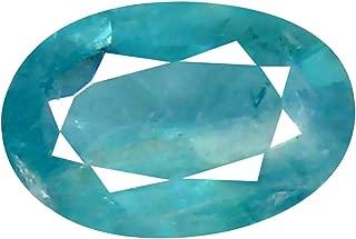Deluxe Gems 0.86 ct Oval Cut (8 x 5 mm) Unheated/Untreated Greenish Blue Grandidierite Natural Gemstone