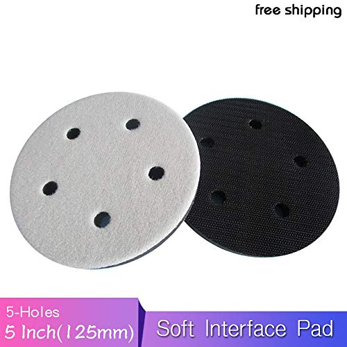 Affordable Xucus 5 5 Holes 125mm Soft Interface Pad Hook and Loop For Damping & Protecting Sanding ...