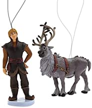"Disney Frozen 2 Kristoff & Sven Reindeer 3"" Custom PVC Holiday Christmas Tree Ornament Figure Figurine"