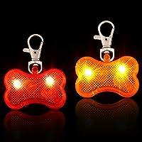 Das Paket beinhaltet: Sie erhalten 2 Stück LED-Leuchten für Hundehalsbänder aus Kunststoff in Rot und Orange. Lebendige Farben sorgen dafür, dass Ihr Welpe im Dunkeln weiter draußen bleibt, und schützen Hunde nachts Qualitätsmaterial: Das LED-Licht f...