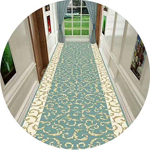 Korridor-Teppichläufer-Innen-Korridor Gang rutschfeste Lange Teppich für Wohnzimmer Schlafzimmer Küche Größe: 1.4x8 / 0.8x8 Hall Rugs (Color : A, Size : 0.6x6m)