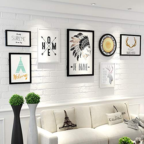 Shangfu Decoration Personalized decoration pendant picture frame Simple large size creative decorative painting combination living room sofa mural large wall DIY