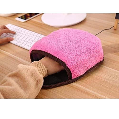 Mopoq 冬用のUSB暖房、マウスパッド、コンピュータパッド、手首ウォーマー、暖かい、USBポートにマウスパッド