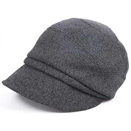 kyprx Coppia Il Cappello Caldo Casuale del Panno della Strada dei Negozi dei Cappucci della Testa dei Vestiti all'aperto del Cappello del Sole Grigio Scuro