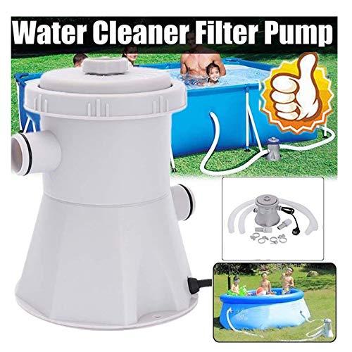 FRAUIT Flowclear Solar Pool Pump Filterpumpe Vorfilter für Aufstellpool Pool Reinigungswerkzeug Zubehör Schwimmbadpumpe Mit Filtereinsatz zur Optimalen Reinigung von Wasser im Schwimmbecken (Grau)