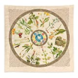 Foraging Plant Bandana | 12 Common Edible, Medicinal, and Useful North American Plants, Trees, and Fungus Found in Nature | 100% Cotton Bandana | MADE IN USA!