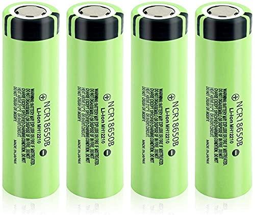 Real 3400mAh 3 7V Recargable NCR18650B Batería Litio Ion Li Ion Pilas Bateria-4 Piezas