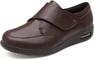 Enflé Gonflée Chaussons Réglable,Le Pied du Patient gonfle Les Chaussures en Cuir, ajoutant de l'engrais pour élargir Les ...