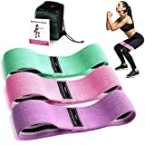 SHISHUO Resistance Band, Booty Band Exercise Bands Set for Legs and Butt Training, Premium Non-Slip Thicken Fabric Workout Bands Loop Glute Bands with Instruction Guide for Women and Men (3-Pack)