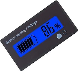 Wakauto Monitor de bateria de 2 peças, visor LCD digital, testador de capacidade, interruptor de tensão, medidor para carr...