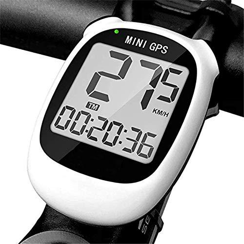 HLH Mini GPS Multifonction de Charge USB, Compteur de Vitesse de vélo sans Fil, écran LCD Haute définition, étanche et Haute précision