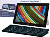 Navitech schwarzes Slankes Wireless Windows Bluetooth Keyboard für das Acer Iconia W3 / W510 / W511 / W700