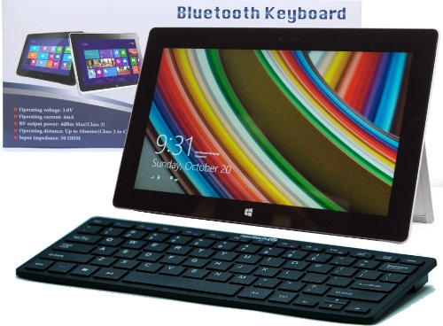 Navitech Tastiera Nera Wireless Windows Bluetooth per Microsft Surface RT & Surface Pro