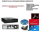 Computer desktop HP 8300sff Intel core i7 3770 @3,90ghz 8gb ram 256gb ssd +500gb sata wifi GARANZIA 24 MESI (RICONDIZIONATO)