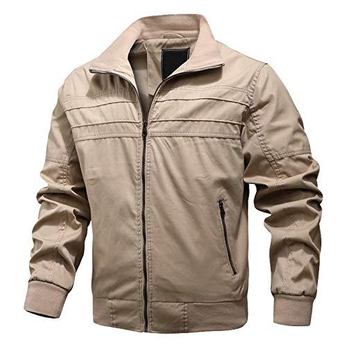 Meclelin Übergangsjacke Herren Leicht Winter Jacke Herbstjacke Fliegerjacke Stehkragen Bomberjacke Baumwolle Army Feldjacke Cargo Jacke