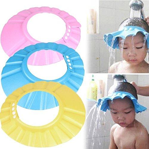 Baby-Kind-Shampoo-Mütze Shampoo Schutz Verstellbarer Weiche Silikonhaut, Augenschutz Ohrenschutz Baby Duschhaube für 0-6 Jahre 'Kids für Babypflege (Rosa)